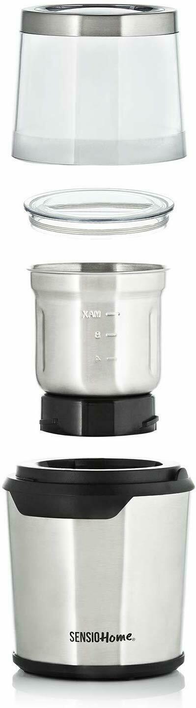 Sensio (SHCOFGR) Home Electric Coffee Grinder Coffee Bean, Herb & Spice Grinder Machine Reviews ...